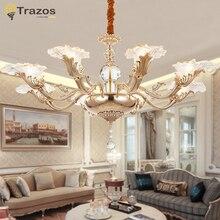 De lujo araña de Cristal Para Sala de estar sala de jantar lustre Candelabros de cristal Moderna Lámpara de La Decoración de La Boda