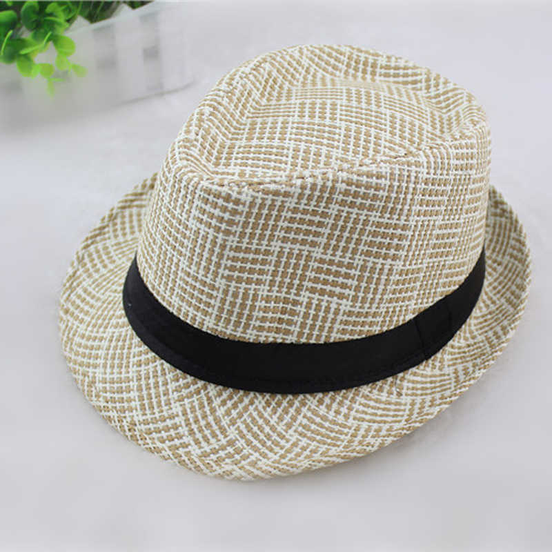 a33ffad19d707 ... British Style Spring summer Men Women Straw Hats Soft Fedora Panama  Hats Outdoor Beach Travel ...