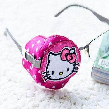 Kid Child Amblyopia Eye Patch Help Vision Recovery Training Hello Kitty Pattern Monocular Correction 100% Cotton Handmade CCP069