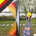 O envio gratuito de alta qualidade 2.4 m linha quad stunt kites borboleta Colorida com linha de pipa pega bar parapente pode am hcxkites