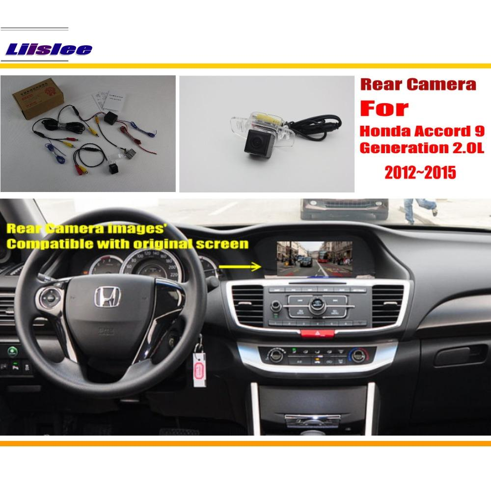 Honda Accord 9 Honey Accord үшін 2.0L 2012 ~ 2015 артқы көрініс камерасы / Back Back Camera Sets / Original Screen Compatible