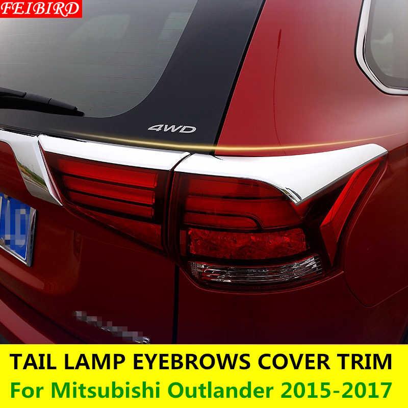 ABS リアテールライト眉毛まぶたカバートリム 4 個成形用三菱アウトランダー 2015 2016 2017