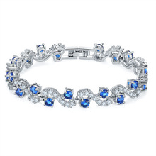Jewelry plated  crystal ladies bracelet anti-allergy zircon in Europe and the United States