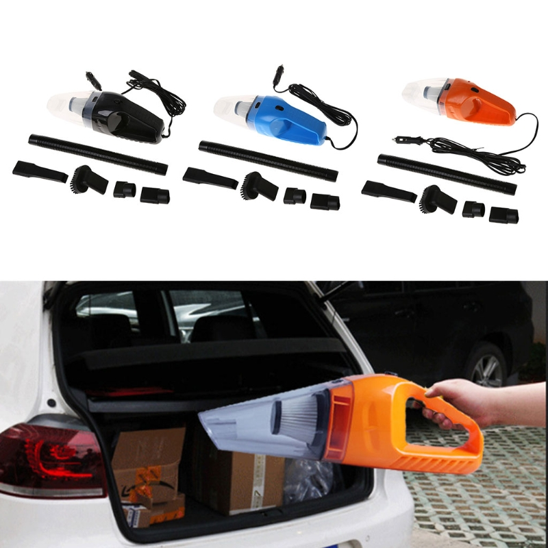 OOTDTY 1 Set Car 12V 150W Portable 6 In 1 Handheld ABS+PVC Vacuum Cleaner Wet/Dry Dust w/ 5m Cable