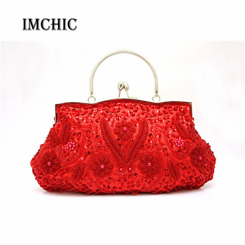 11 Colors Women's Beads Evening Bag Exquisite Handmade Beaded Bags Embroidered Wedding Bridal Wristlet bolsos