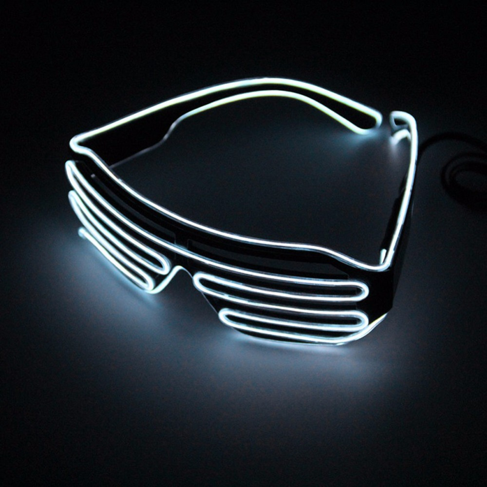 1pcs Cycling Glasses LED Flashing Neon Luminous EL Wire Lenses Halloween Party Glasses Fluorescent Sunglasses colorful