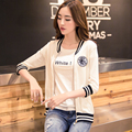 2016 Cardigans Poncho Winter bask In And Female 7 Minutes Of Sleeve Baseball Uniform Thin Knitting Cardigan Coat Outside