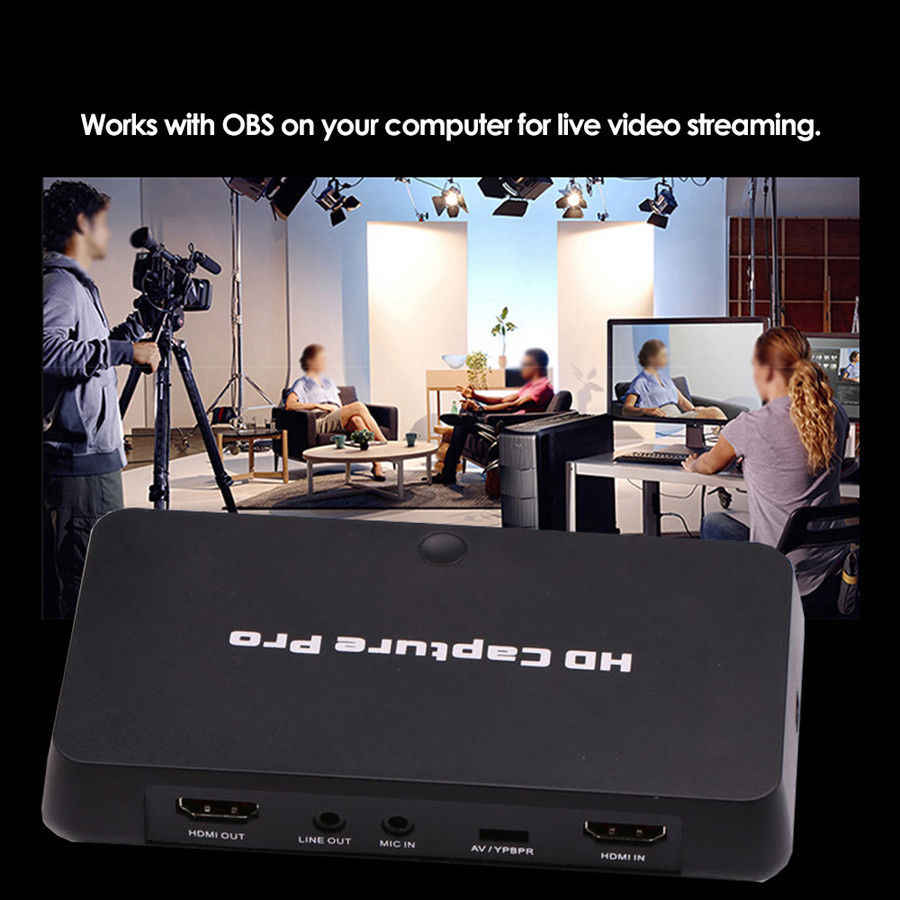 HDMI AV Video Capture Card HD 1080P Schedule Recording Game Recorder  Playback For Xbox 360 PS3 PS4 TV Set-Top Box DVD VHS