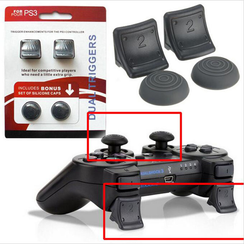 ThumbStick Caps Joystick Grips & Dual Triggers Enhancements Replacement For Sony PlayStation Dualshock 3 PS3 Controller Gamepad