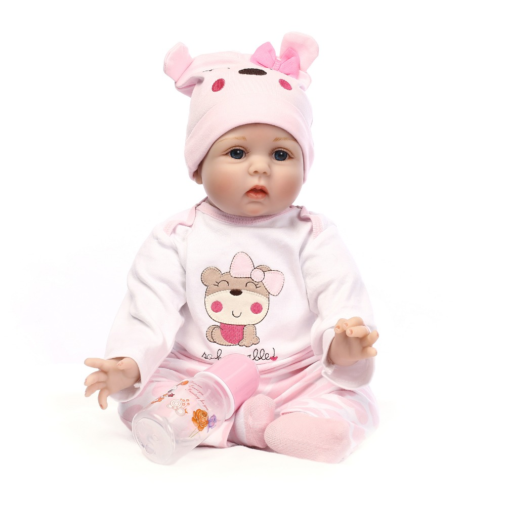 NPKCOLLECTION 40CM Silicone Reborn Boneca Realista Fashion Baby Dolls Kids Birthday Gift Bebes Reborn Dolls For Girls Toys