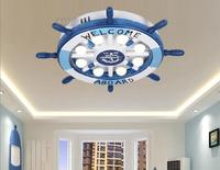 Led ceiling lamps creative room warm personality of children room master bedroom boy eye cartoon rudder lamp