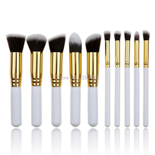 MINI 10pcs/set Makeup Brushes Beauty Cosmetics Foundation Blending Blush Make up Brush Tool Kit Set White Handle professional 10pcs white silver jessup brand makeup brushes set beauty foundation kabuki brush cosmetics make up brushes kit