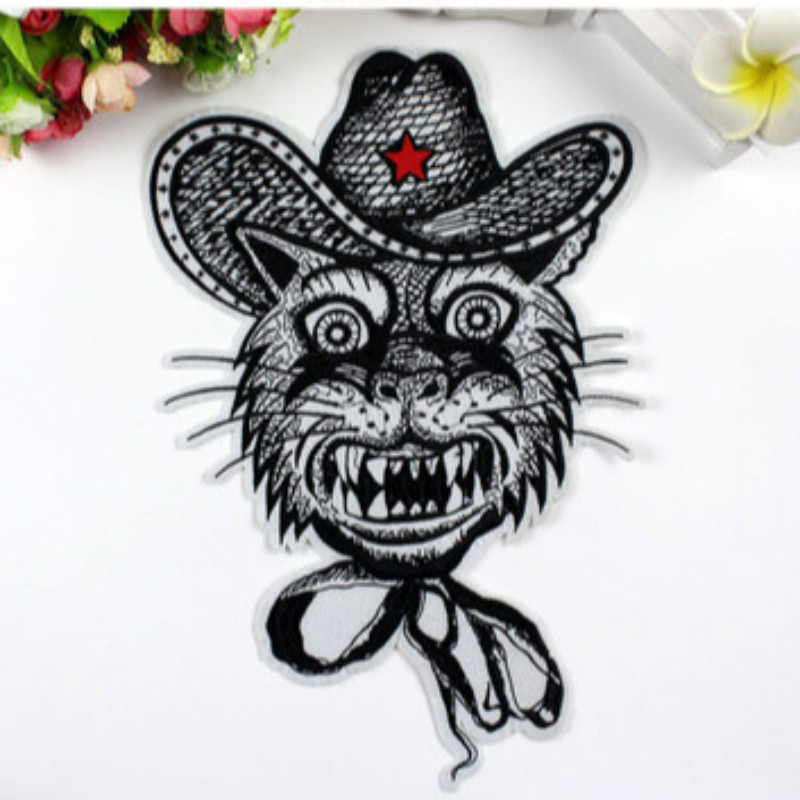 10 Pcs/lot Most Free Shipping Embroidery Patches Ancient Oversize Applique Patch Cat Clothes Sewing Accessories Wholesale