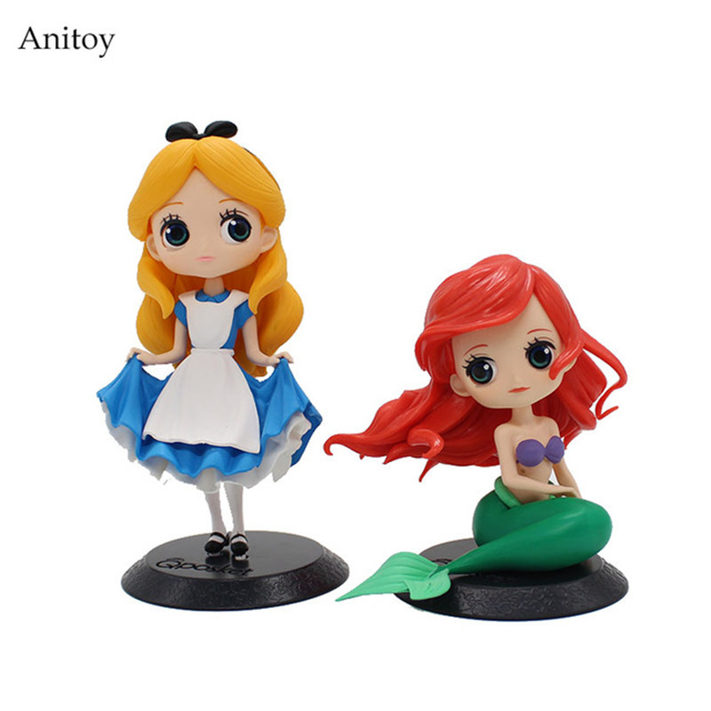 Alice In Wonderland 1/8 scale painted figure The Little Mermaid Doll PVC Action Figure Collectible Model Toy 11-16cm KT3815 3pcs world famous fairy tales alice s adventures in wonderland thumbelina and the little mermaid bilingual picture books