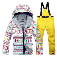 Woman Snow Suit Clothes Female Skiing Suit Sets 10K Waterproof Windproof Thermal Warm Customes Snowboarding Jackets