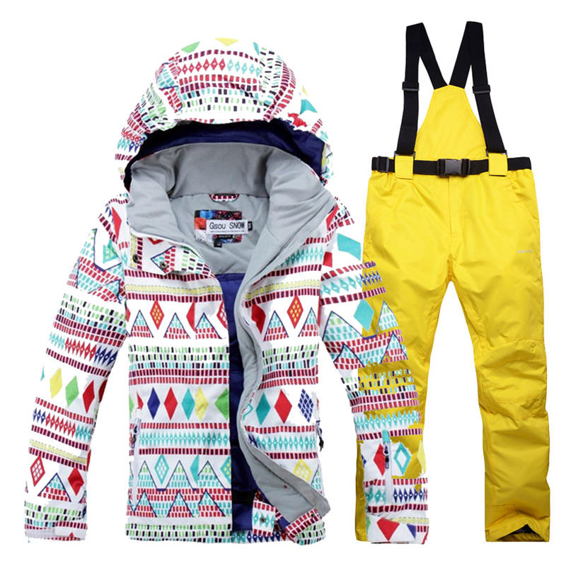 Woman Snow suit Clothes female Skiing suit sets 10K Waterproof Windproof Thermal Warm customes Snowboarding Jackets + bibs Pants 2016 new skiing jackets and pants winter women snow suit sets windproof waterproof breathable women skiing suit warm