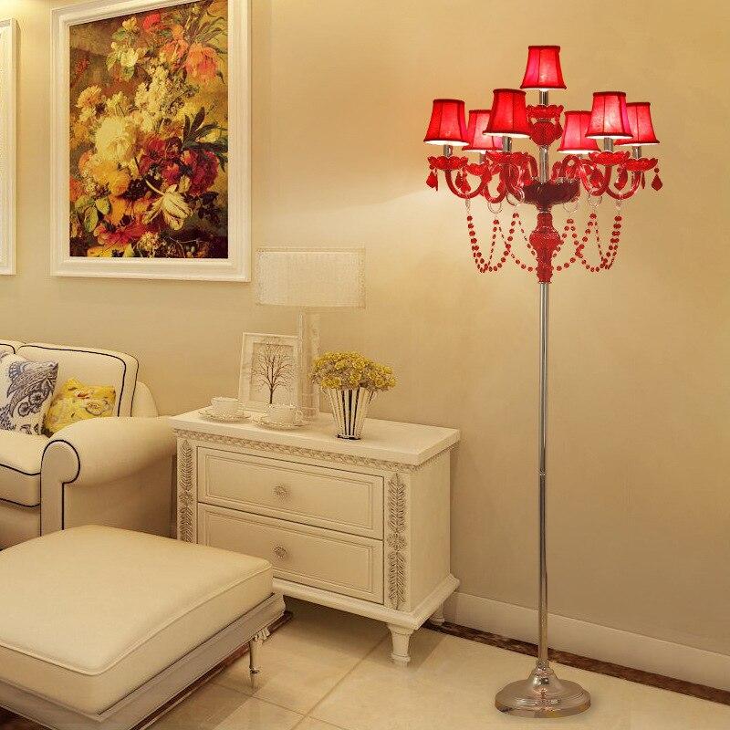 luminaria de chao vermelho para sala de estar do lado da cama quarto decoracao da lampada