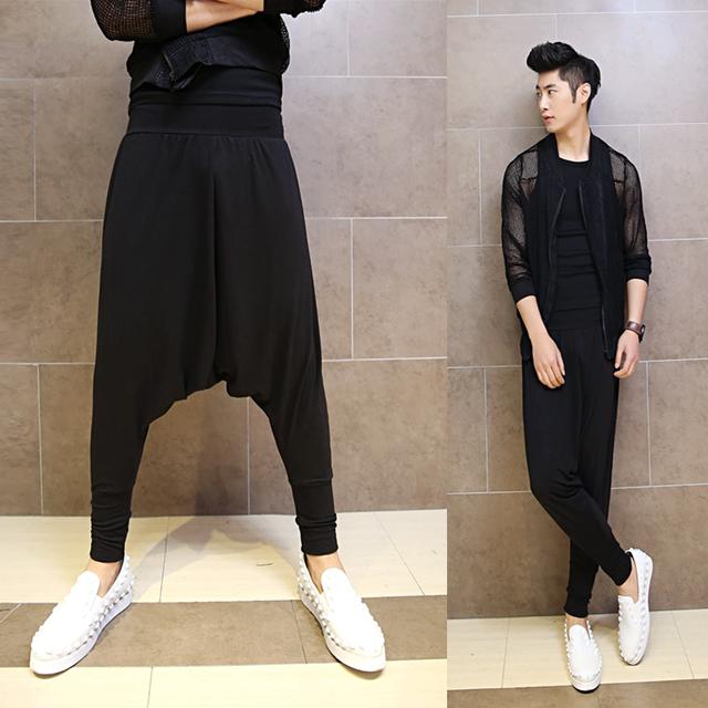 2017 personalidade do punk dos homens calças moda harem pants calça casual calças novidade para o sexo masculino