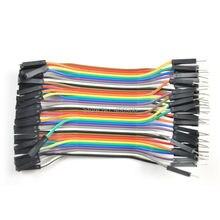 10 компл./лот (1 компл. = 40 шт.) 10 см Женщины к Мужчине Dupond Кабель Провод Линии для arduino