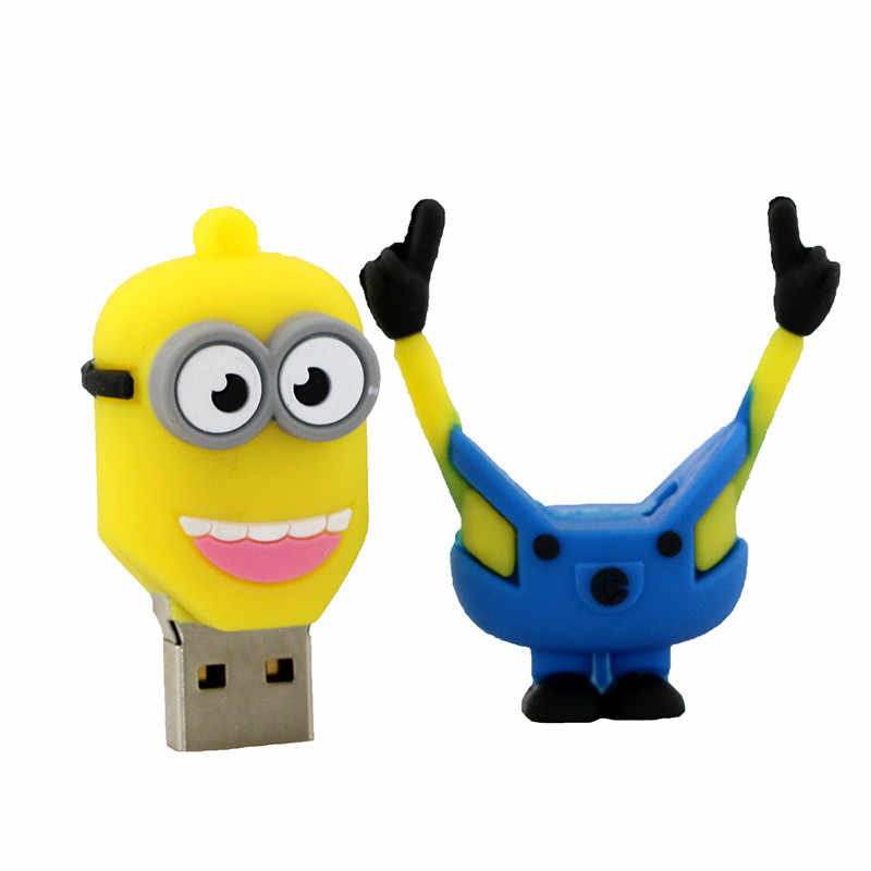 Superhero Minions รูปแบบ 4GB 8GB 16GB 32GB 64GB USB Flash Drive การ์ตูน Minion USB Stick ไดรฟ์ปากกา Memory Stick Pendrives U Disk
