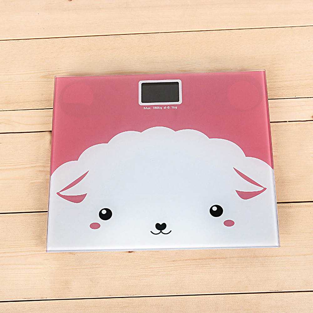 2019 Electronic Personal Scale Digital Balance Cute Cartoon Body Weight Scale with Backlight Display Body Weighing Tool(China)