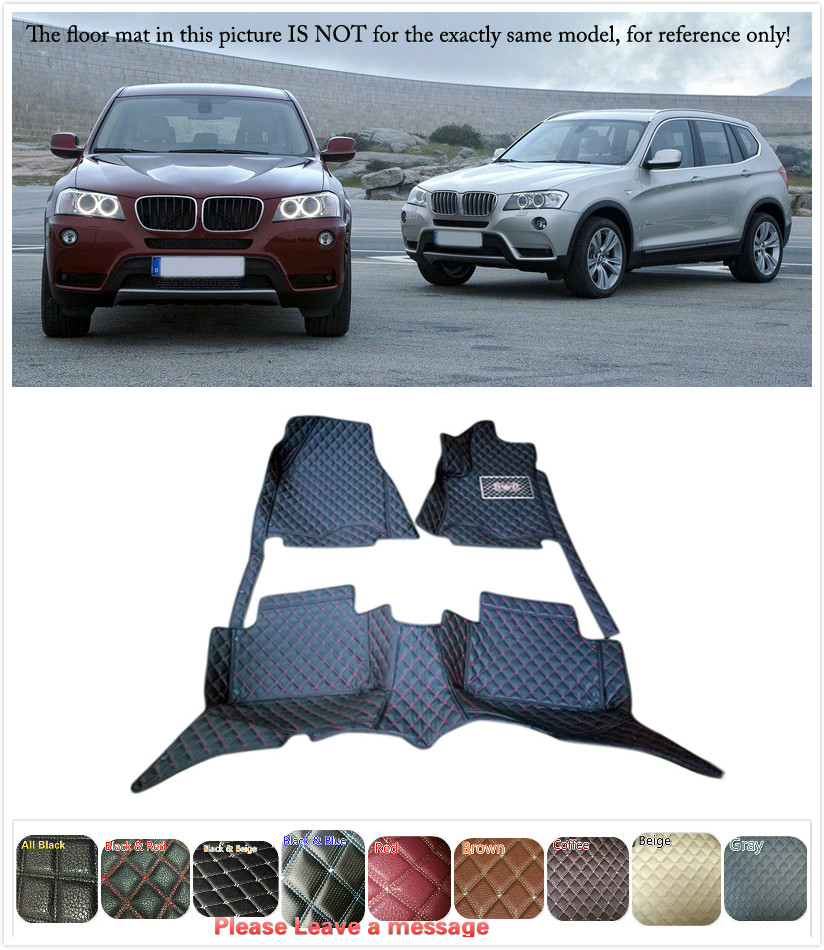 5 Seats 1 Set Customs Car Floor mat Leather Waterproof Front & Rear Floor Mats Carpets Pads for BMW X3 E83 2006 207 2008 09 10 5 seats 1 set customs car floor mat leather waterproof front