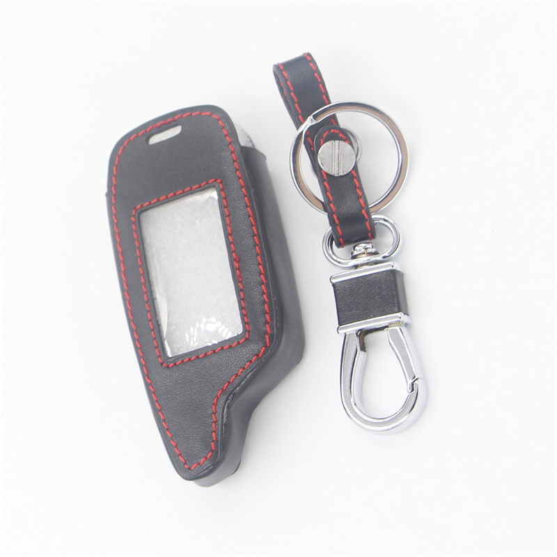 Leather Key Case For Pandora DXL3000 Two Way LCD Remote Starter Car Alarm