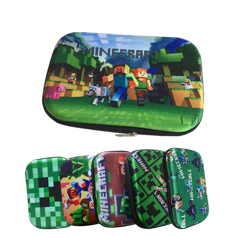купить Kawaii School Pencil Case Large Zipper Storage Bag Pencilcase for Kid EVA Green Minecraft Pen Box Student Gift School Stationery по цене 563.7 рублей