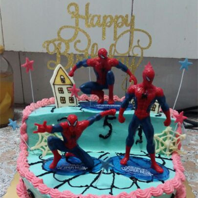 Chaude Super Hero Spider Man Party Cupcake Toppers Picks D