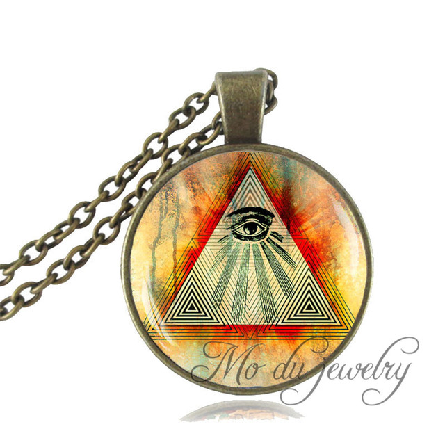 Eye of providence pendant all seeing eye necklace third eye eye of providence pendant all seeing eye necklace third eye jewelry vintage glass dome photo choker mozeypictures Gallery
