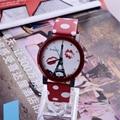Moda womage torre eiffel reloj de cuero del punto de polca mujeres del reloj relojes de las mujeres reloj de señoras reloj saat reloj mujer montre femme