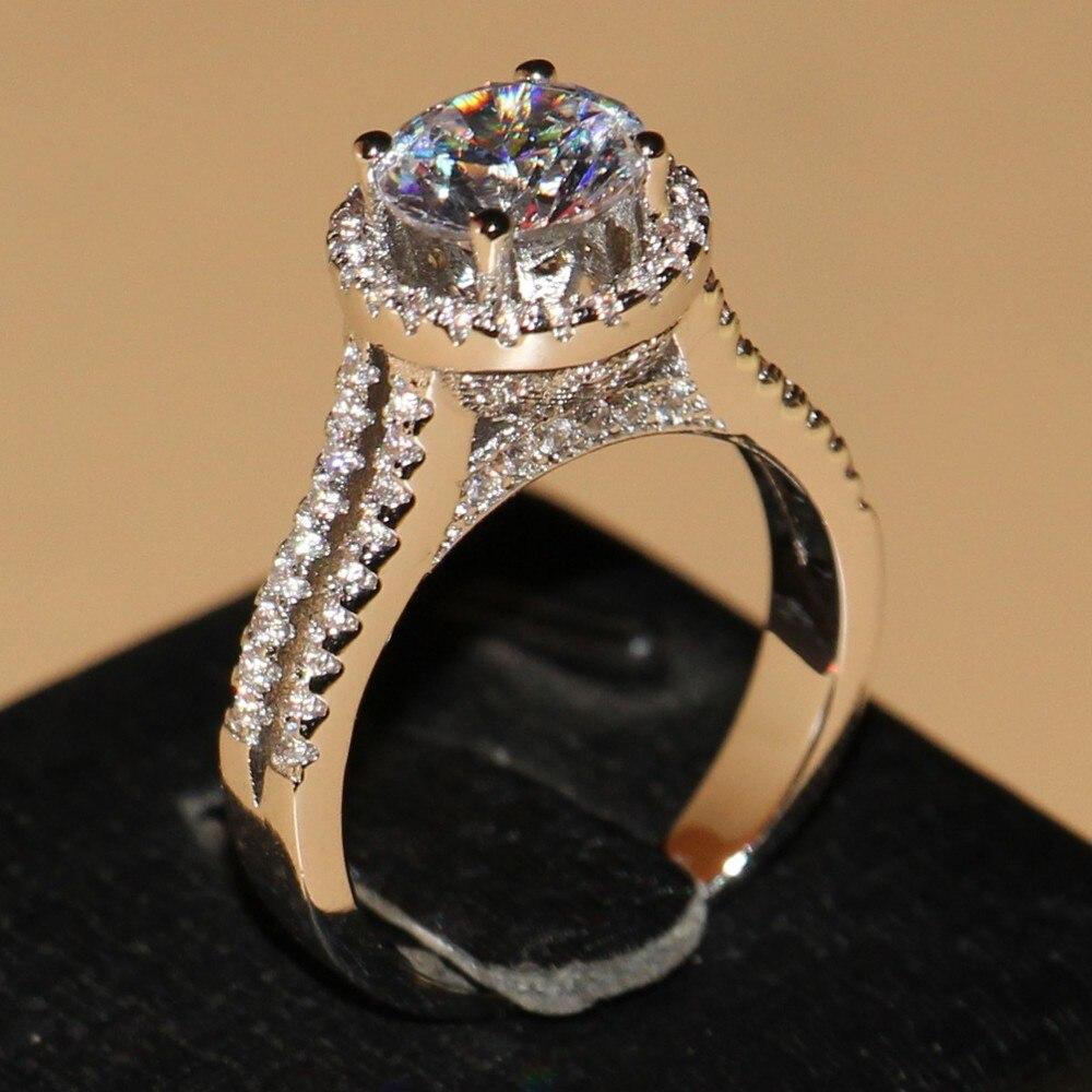 Drop ship font b Luxury b font font b Jewelry b font 925 Sterling Silver Round