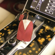2019 Fashion Car Key Wallet Genuine Leather Patchwork Color Block Cow Housekeeper Holder Smart Pouch Box