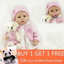 Lifelike Baby Dolls 22 Inch 55cm Smiling Realistic Soft Vinyl Reborn Kids Birthday Christmas Juguetes Buy 1 get free