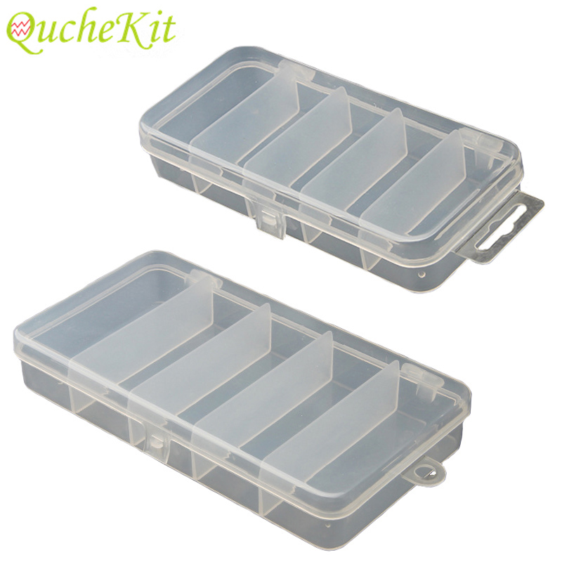 Storage-Box Display-Organizer Jewelry Craft Pill Small-Component Adjustable Transparent