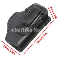 Leather Right Hand IWB Gun Holster Concealed Carry Holster with Clip for S&W M&P Shield Glock 17 19 21 23 26