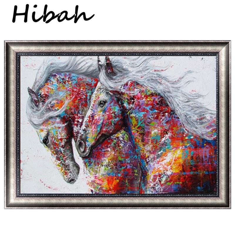 Diamond Painting Horse Handmade Diy Diamond Embroidery Animal Rhinestone Mosaic Picture Frameless