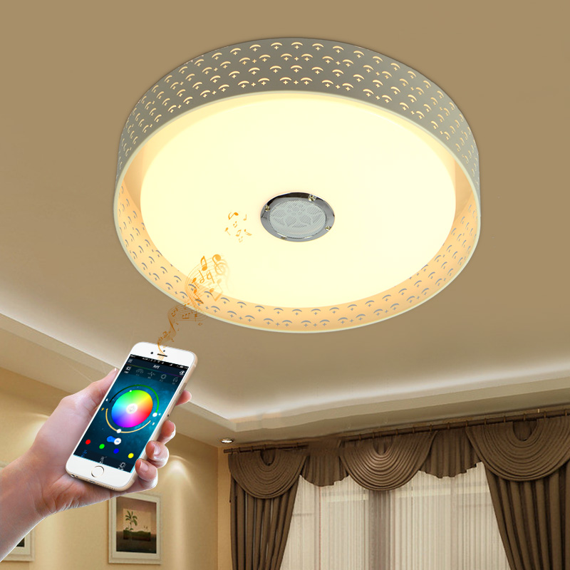 RGB Dimmable Modern ceiling Lights 36W LED Lamps with Bluetooth & Music smart ceiling lamp for 10 -15 Square meters new design