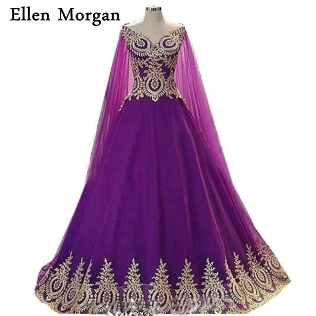 Purple Ball Gowns Prom Dresses 2018 Gold Lace African Puffy Real Picture Black Girls African Tulle Runway Quinceanera Gowns