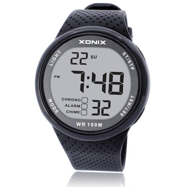 2018 New Brand Watch Men Military Sports Watches Fashion PU Waterproof LED Digit