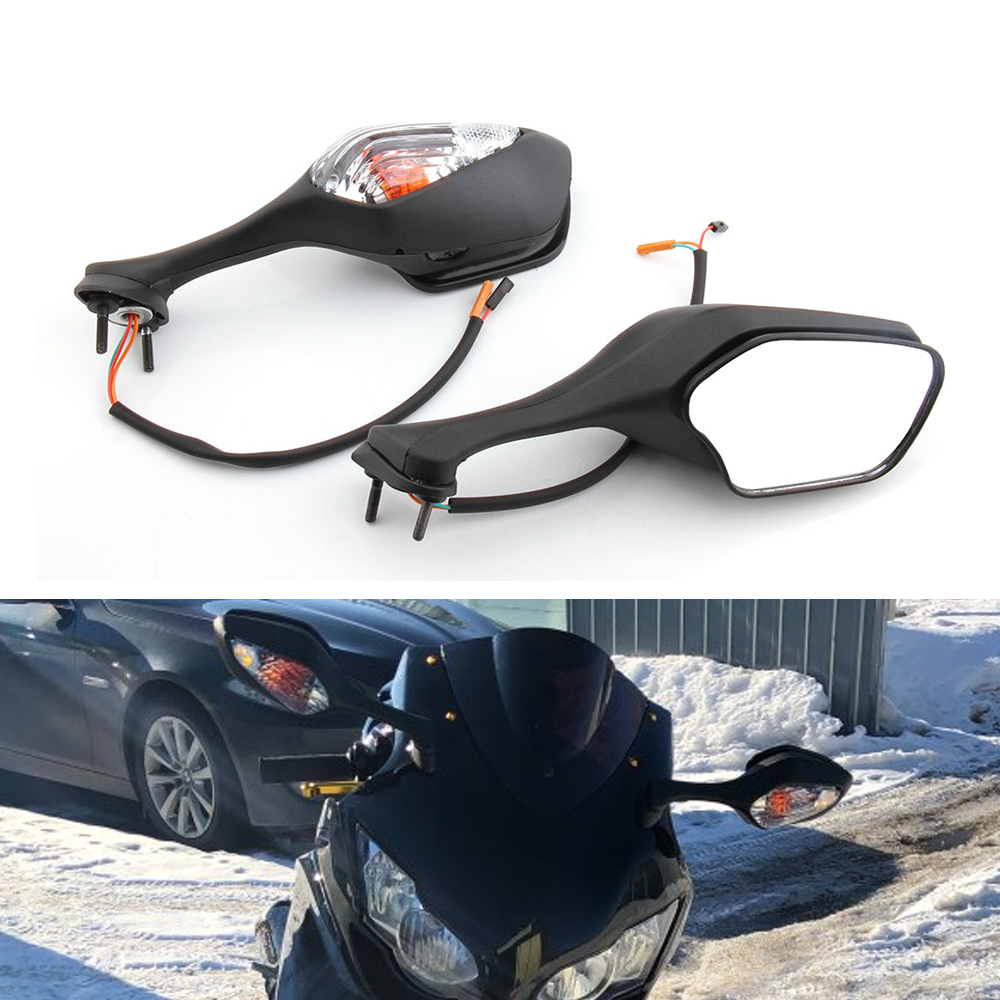 Motorcycle LED Turn Signals Rearview Side Rear View Mirror Accessories For Honda CBR1000RR 2008 2013 VFR
