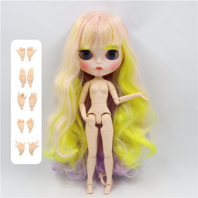 fortune days factory blyth doll white skin face short