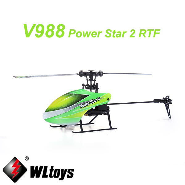 WLtoys V988 Power Star 2 4CH 6-Axis Gyro Flybarless Helicopter Mode 2 wltoys v676 2 4ghz 4 ch outdoor r c ufo helicopter aircraft w 6 axis gyro lamp white green