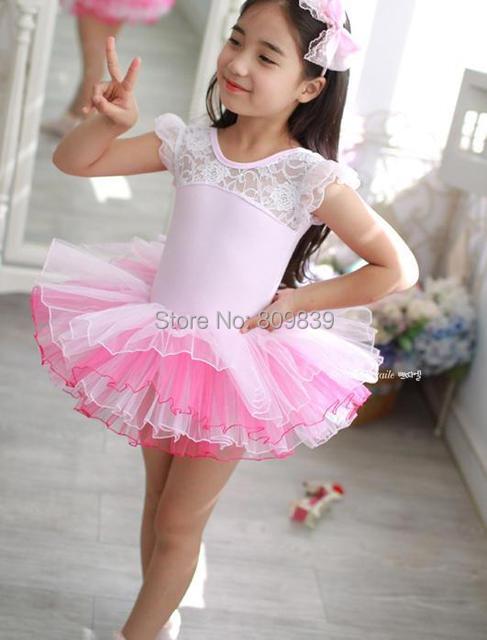 Nuevo partido de las muchachas niños leotardo Pink Ballet Tutu danza ...