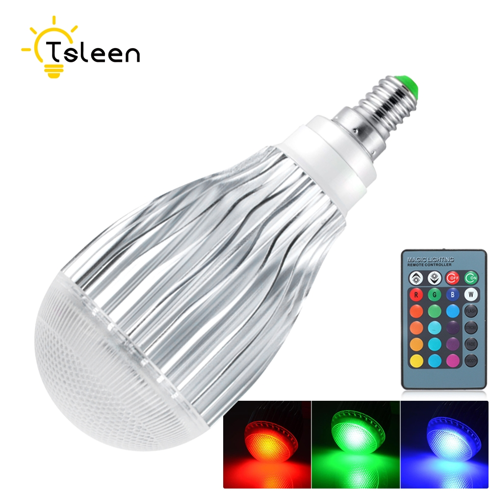 E27 RGB LED Lamp 5W 10W AC 85~265V Bombillas Led E26 E14 RGB LED Bulb Light Remote Control 16 Color Changing Lampada LED Luz rgb led bulb 9w 15w rgb bulb e27 e26 e14 gu10 b22 ac 85 265v rgb led lamp with remote control multi color lamp