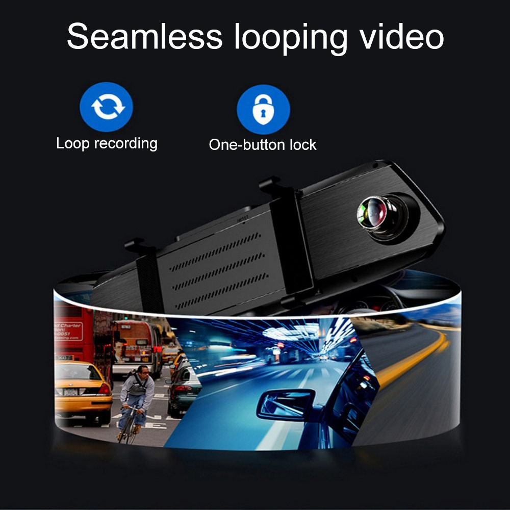 5.0 Inch 1080P HD Car DVR Mirror With Reverse Camera Night Vision 12.0 MP Auto Driving Video Recorder Car Dash Camera