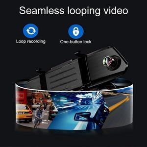 Image 3 - 5,0 pulgadas 1080 P HD coche DVR espejo con cámara de visión trasera visión nocturna Auto conducción grabadora de vídeo coche Dash cámara