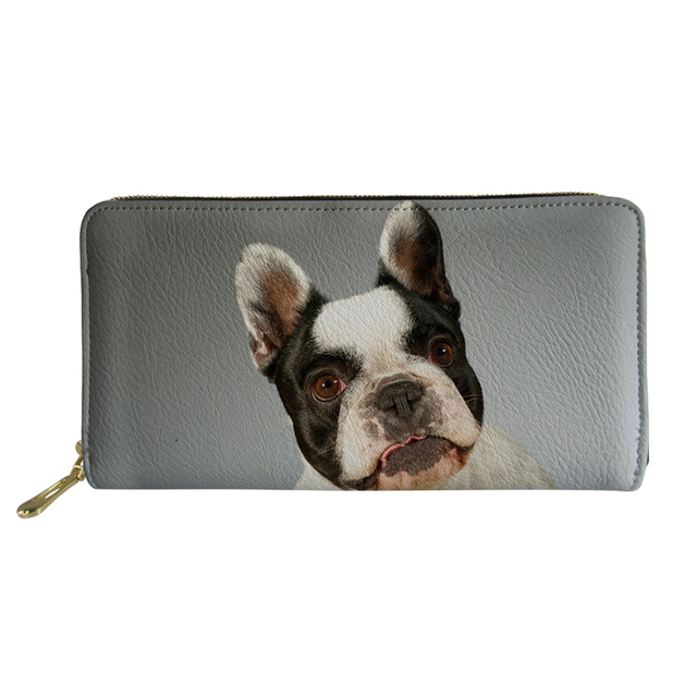 497ac94de085 US $12.99 35% OFF|Noisydesigns Wallet Female Coin Purses for Women Mini  Long Purse French Bulldog Pug Print Women PU Leather Coin Purse Men-in  Wallets ...