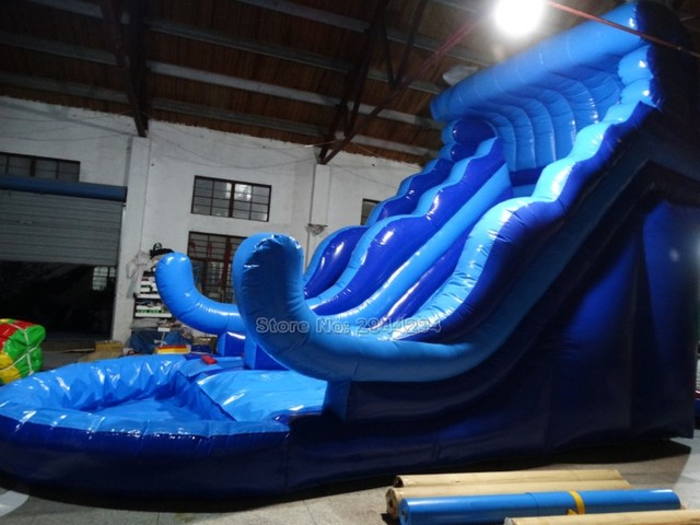 2016 large inflatable water slide commercial inflatable slide with pool inflatable pool slide for kids and - Inflatable Pool Slide