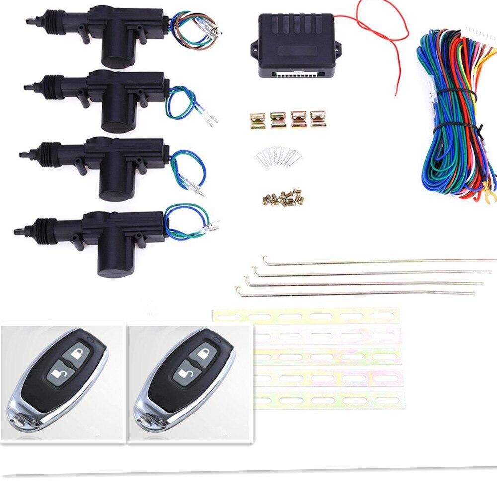12 V universel 2/4 Kit de verrouillage Central à distance porte automatique sans clé entrée voiture Kit Central à distance système de verrouillage de porte système d'alarme de voiture